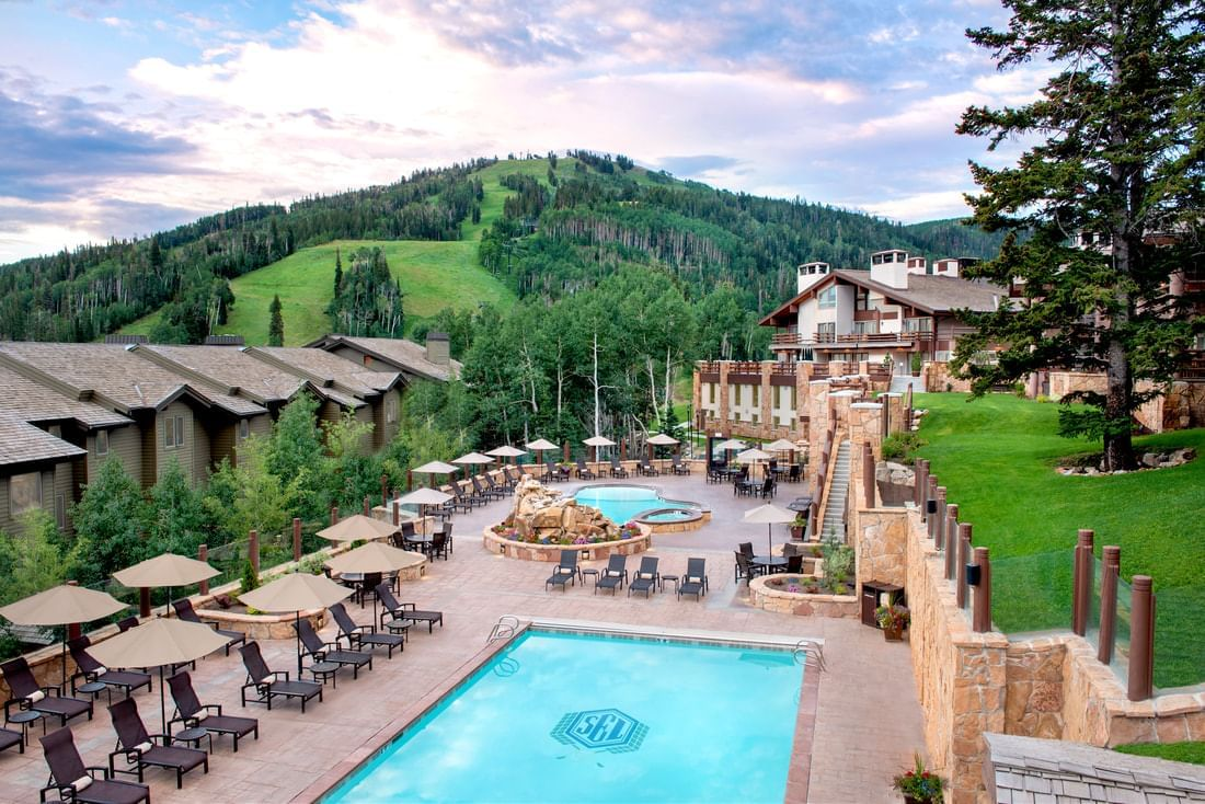 Stein Eriksen Lodge Outdoor Pools and Hot Tubs