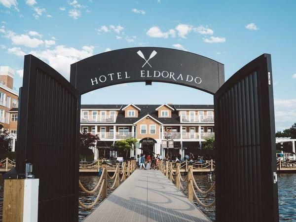 dock entrance to hotel eldorado