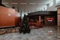 Atrium Facing Montanas with Christmas Tree