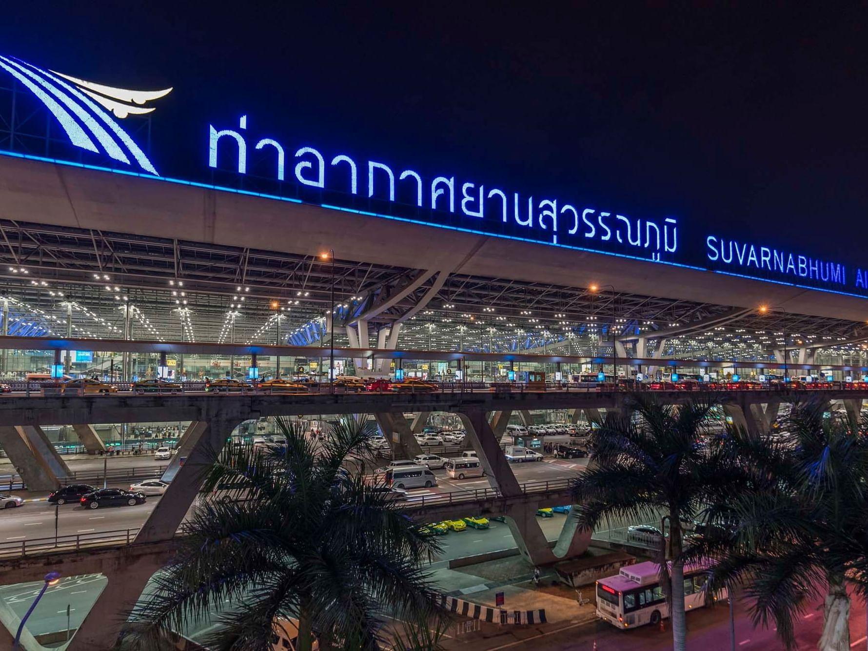 Exterior view of Suvarnabhumi Airport near Chatrium Hotel Riverside Bangkok