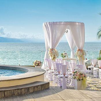 beach wedding place at Sunset Plaza Beach Resort