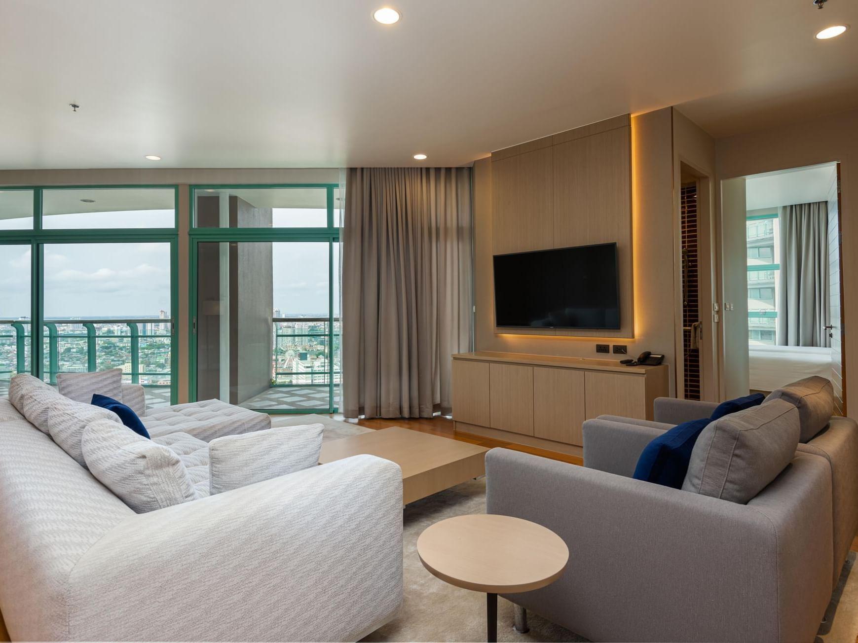 Living room area at Chatrium Hotel Riverside Bangkok
