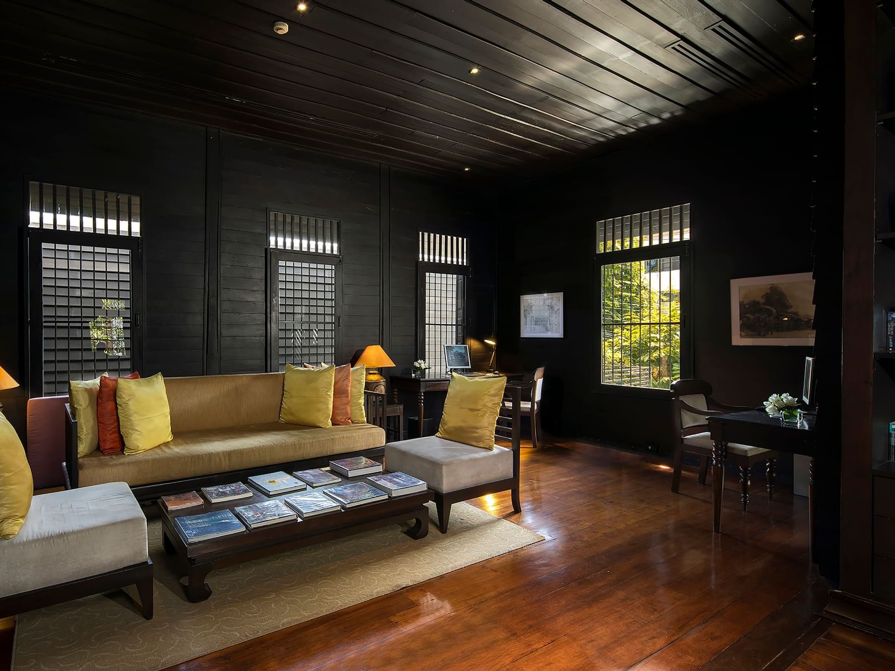 Library with sofa at U Hotels and Resorts