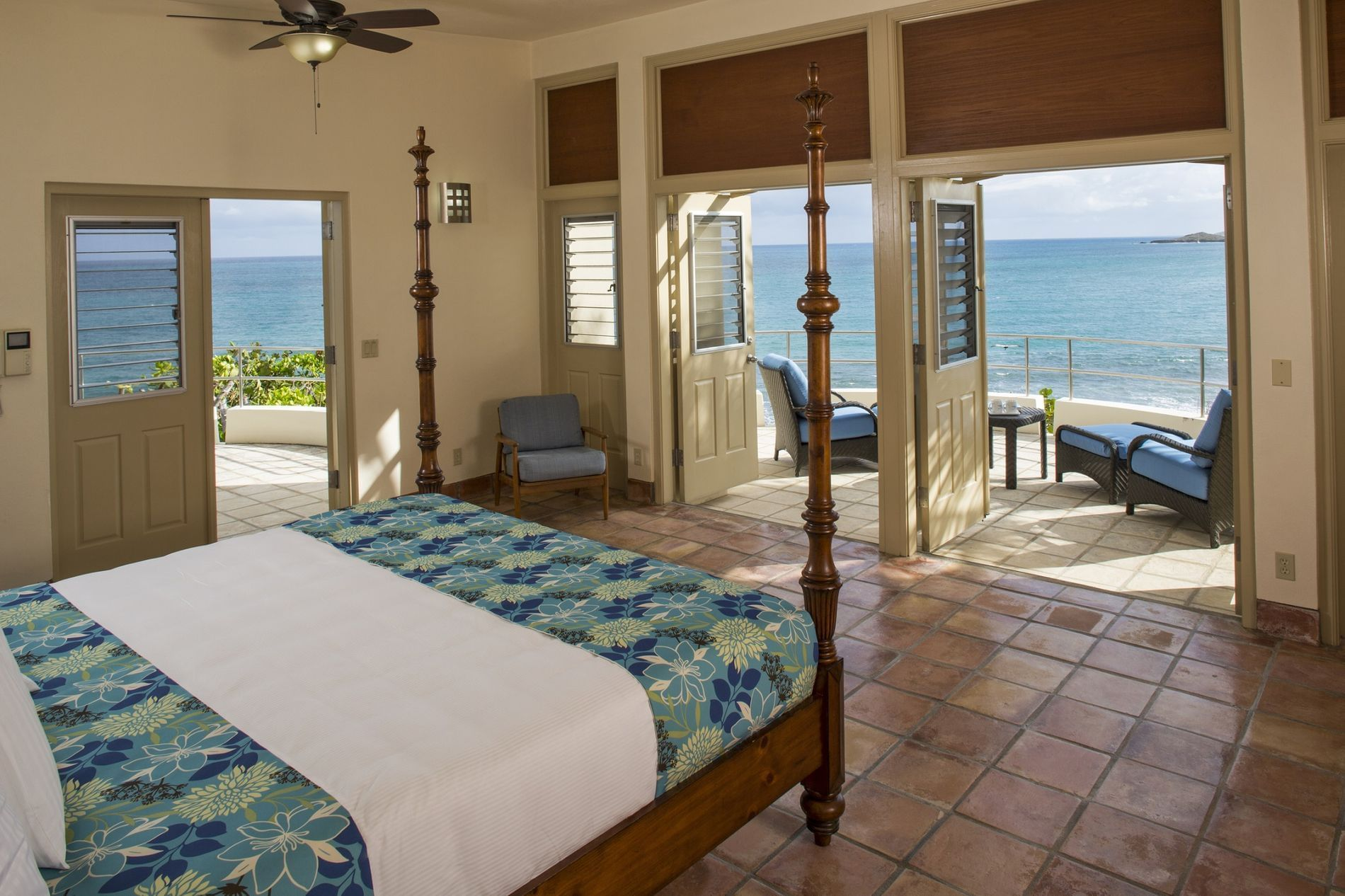 Buck Island Suite Bedroom with Terrace