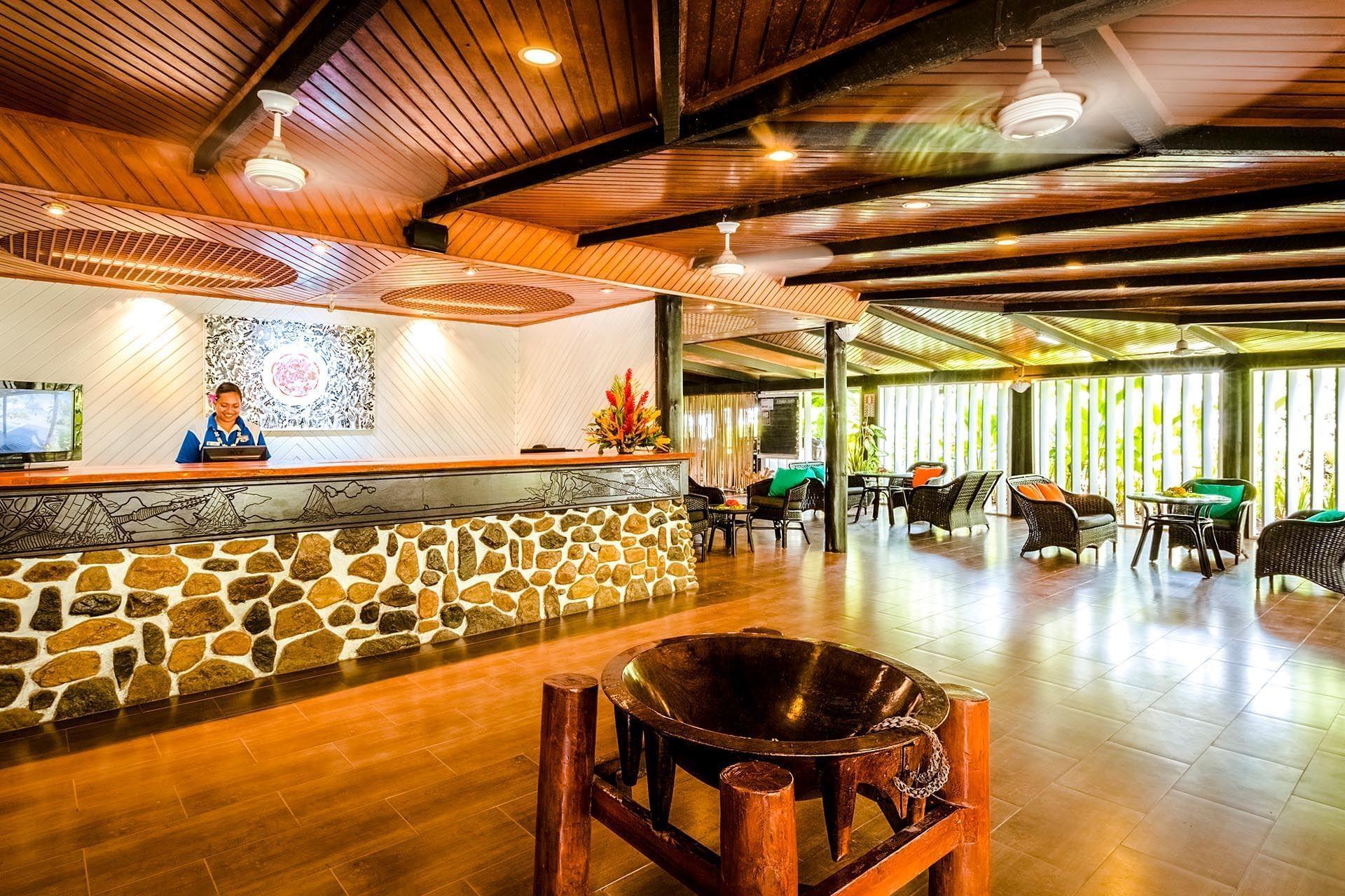 Lobby at Tambua Sands Beach Resort