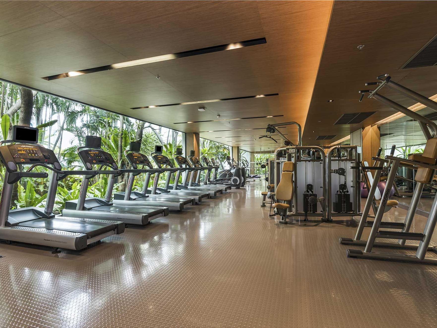 View of Fitness center at Emporium suites at Chatrium hotel