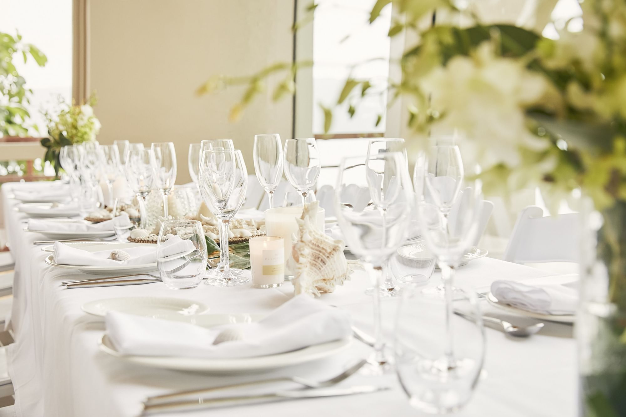 Table settings for wedding at Daydream Island Resort