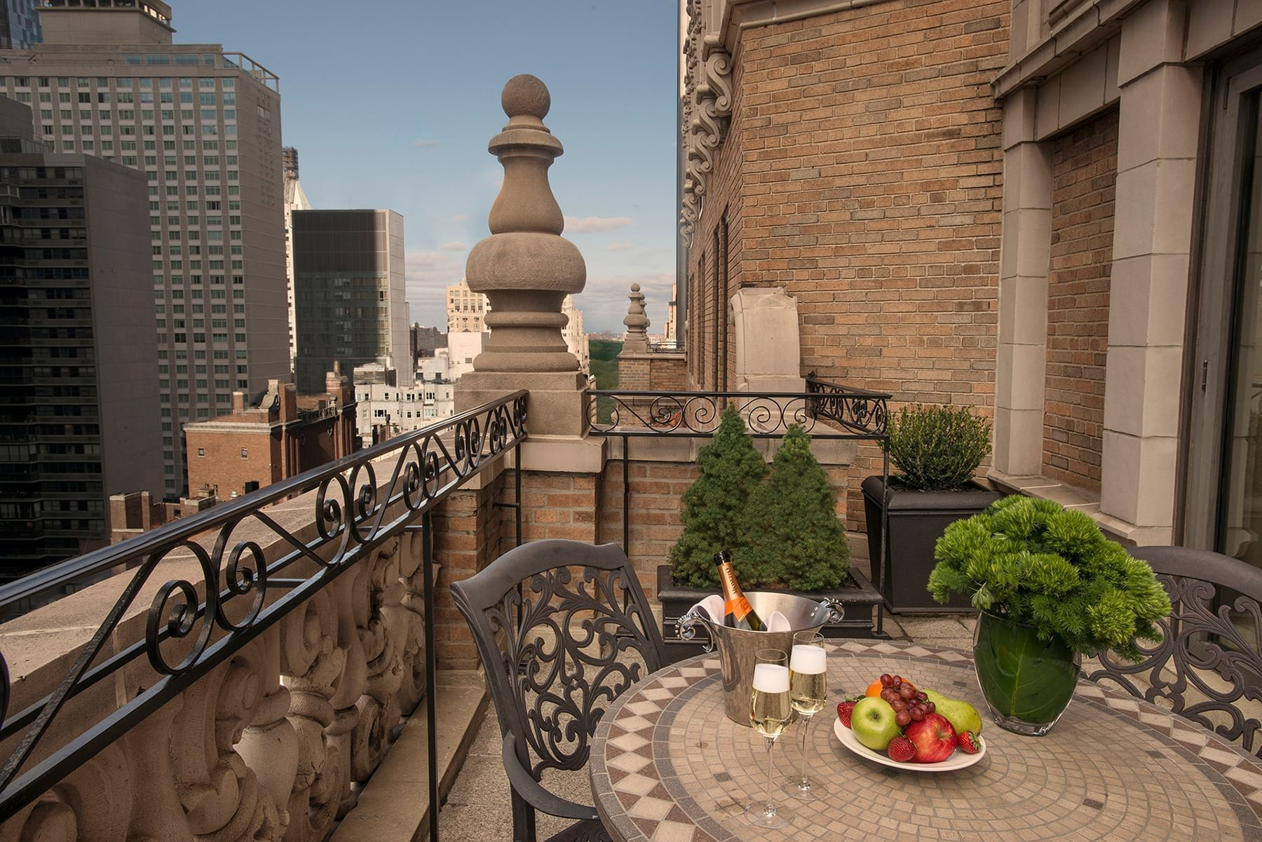 Terrace view west at Warwick New York