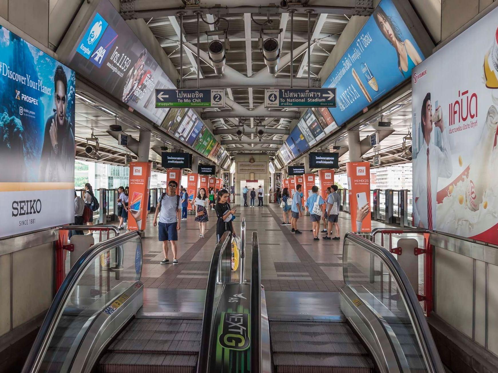 BTS Siam Station near Chatrium Hotel Riverside Bangkok
