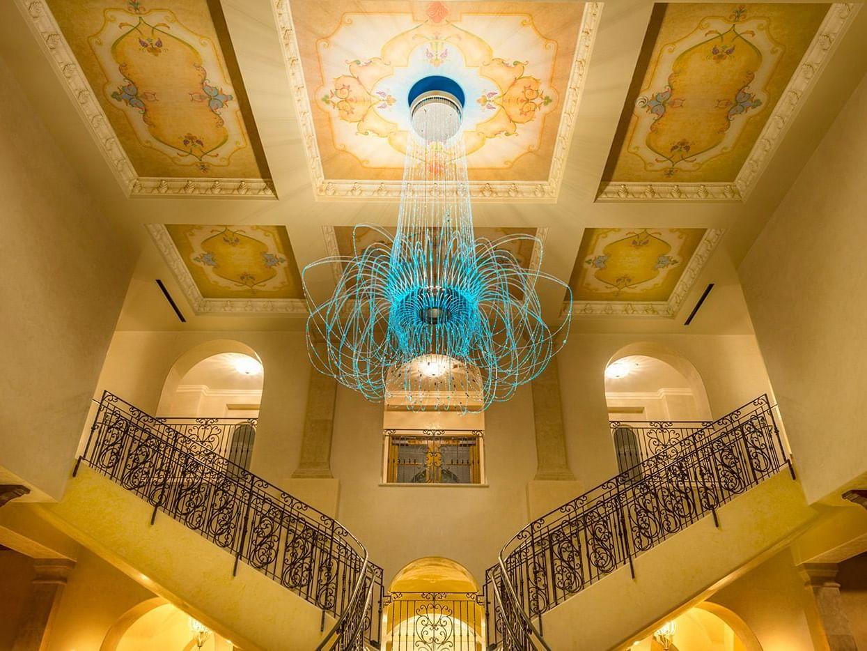 Chandelier in Allgretto Vineyard Resort lobby