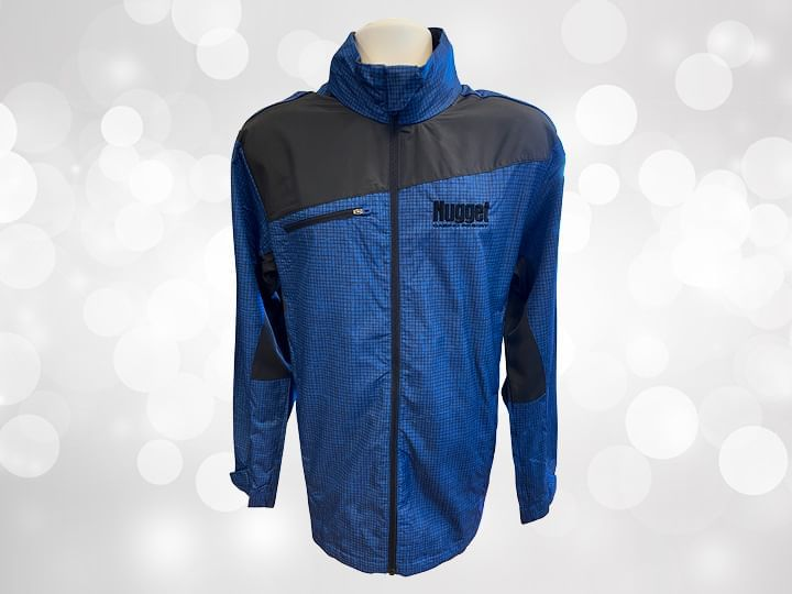 A North End Blue and Black Jacket with Nugget Logo and Chest Pocket