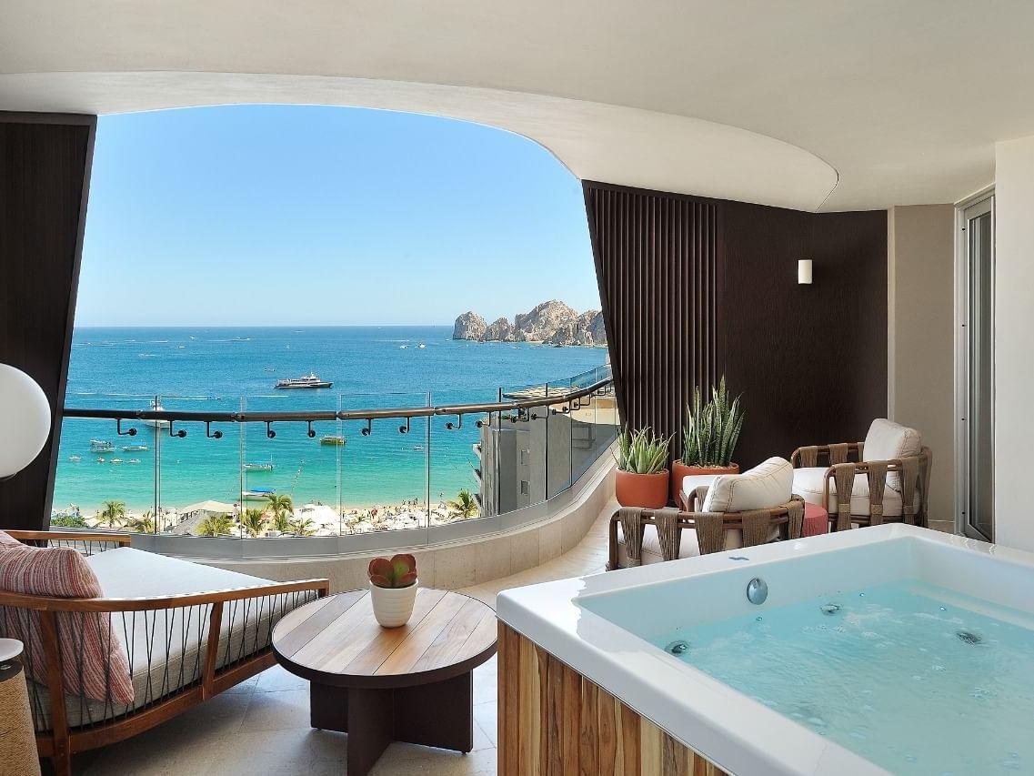 Corazon Suite with ocean view at Cabo villas beach resort