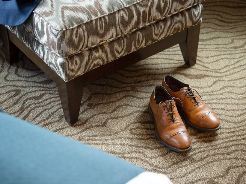 A pair of shoes in a room at Paramount Hotel Portland