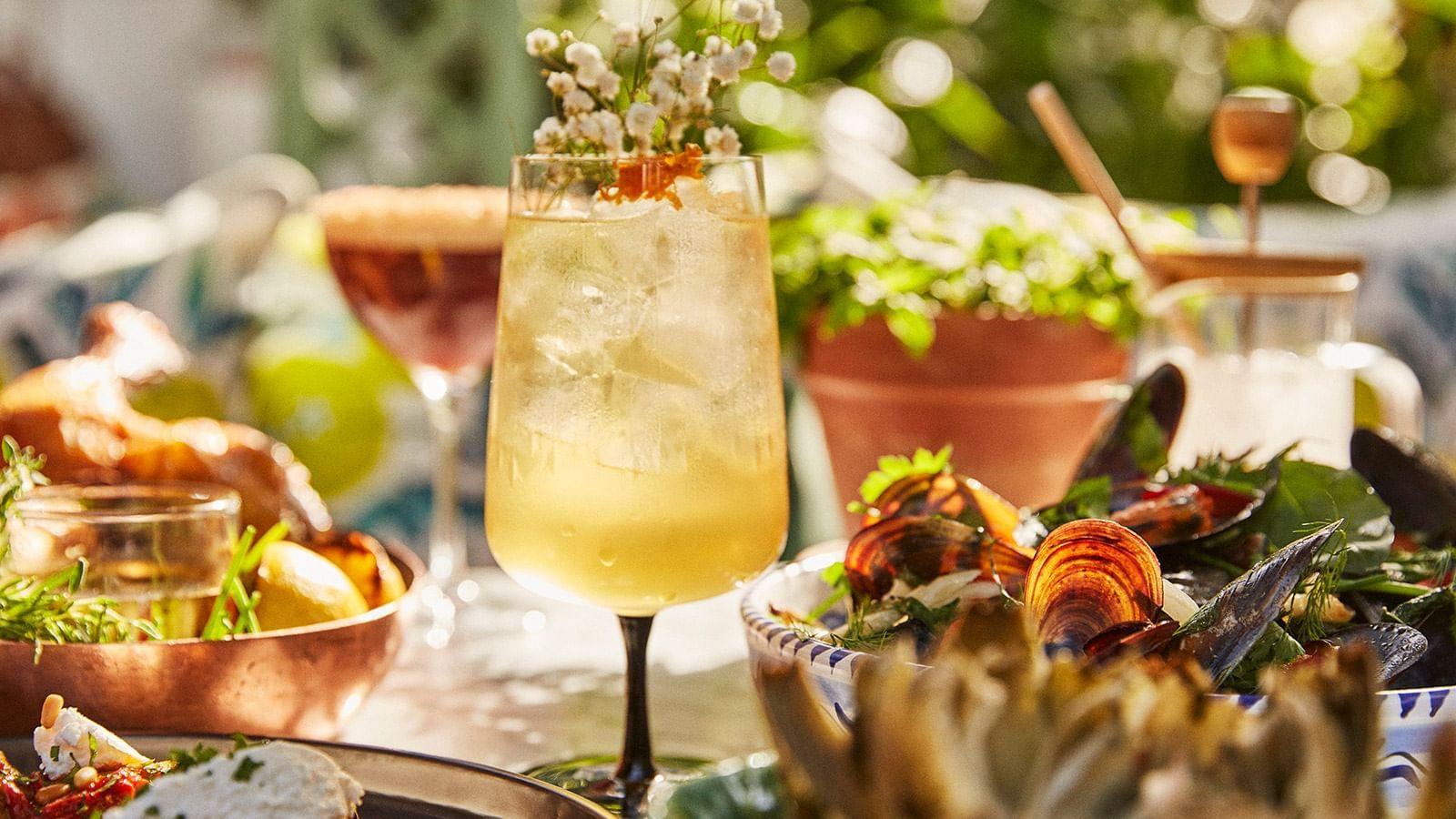 Cocktail at El Patio Restaurant Marbella Club Hotel