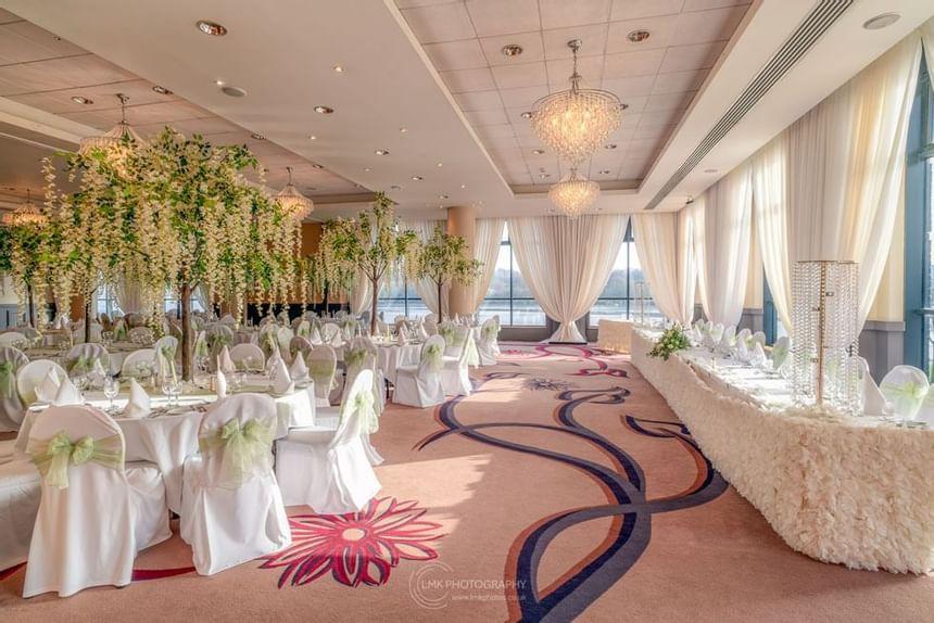 City Hotel Derry Ballroom Showing Flower Arrangements On Tables