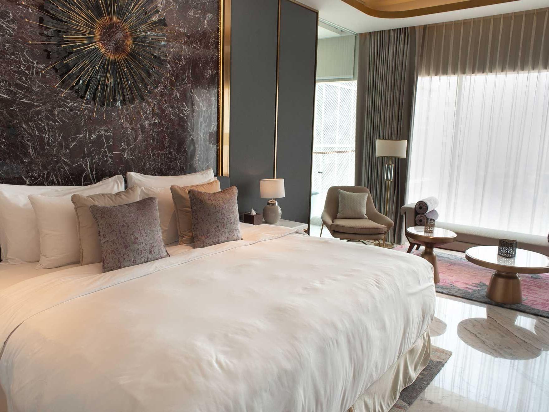 Bedroom of Breccia Suite in Vasa Hotel Surabaya
