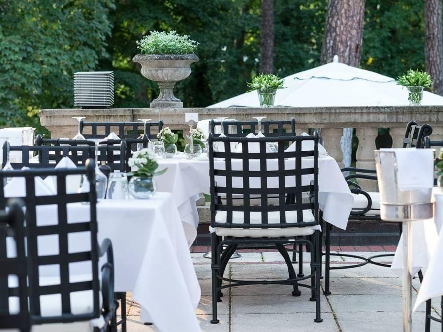 Garden & Terrace Dining Area at Patrick Hellman Schlosshotel