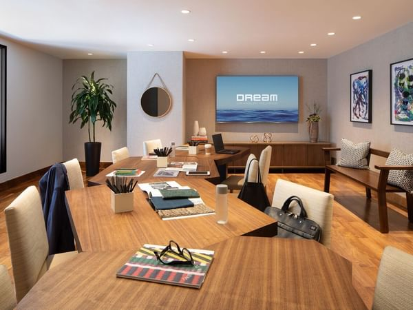 Think Tank BoardRoom with seating for 18 at Dream Hollywood LA