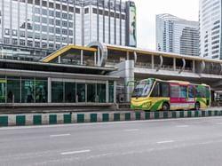 Rapid bus transit system near Chatrium Hotel Riverside Bangkok