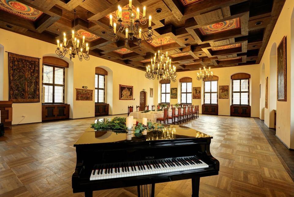 Festivity Hall at Hotel Ruze, Český Krumlov, Czech Republic