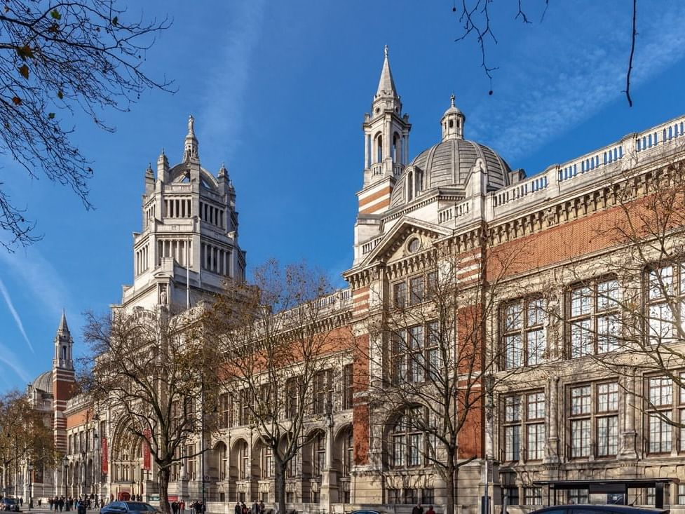 Victoria and Albert museum front view at Sloane Square Hotel