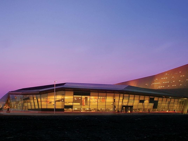 glass exterior of candian war museum
