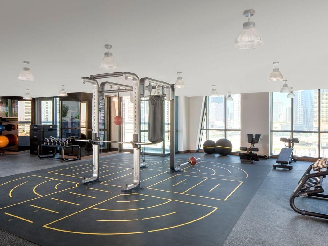 Gym  at Paramount Hotel Dubai