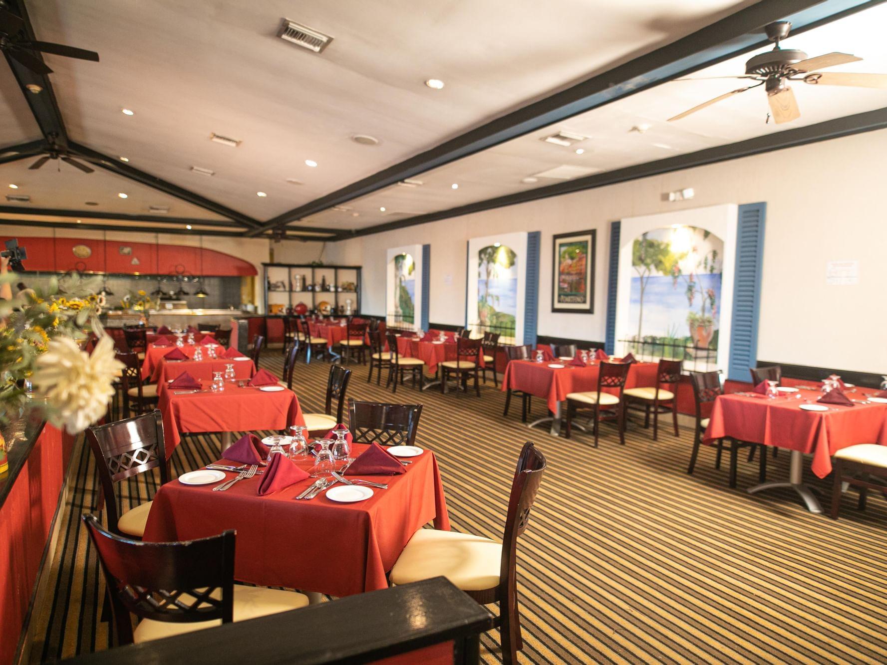 Table setting in Sorrento Italian at Holiday Inn Montego Bay