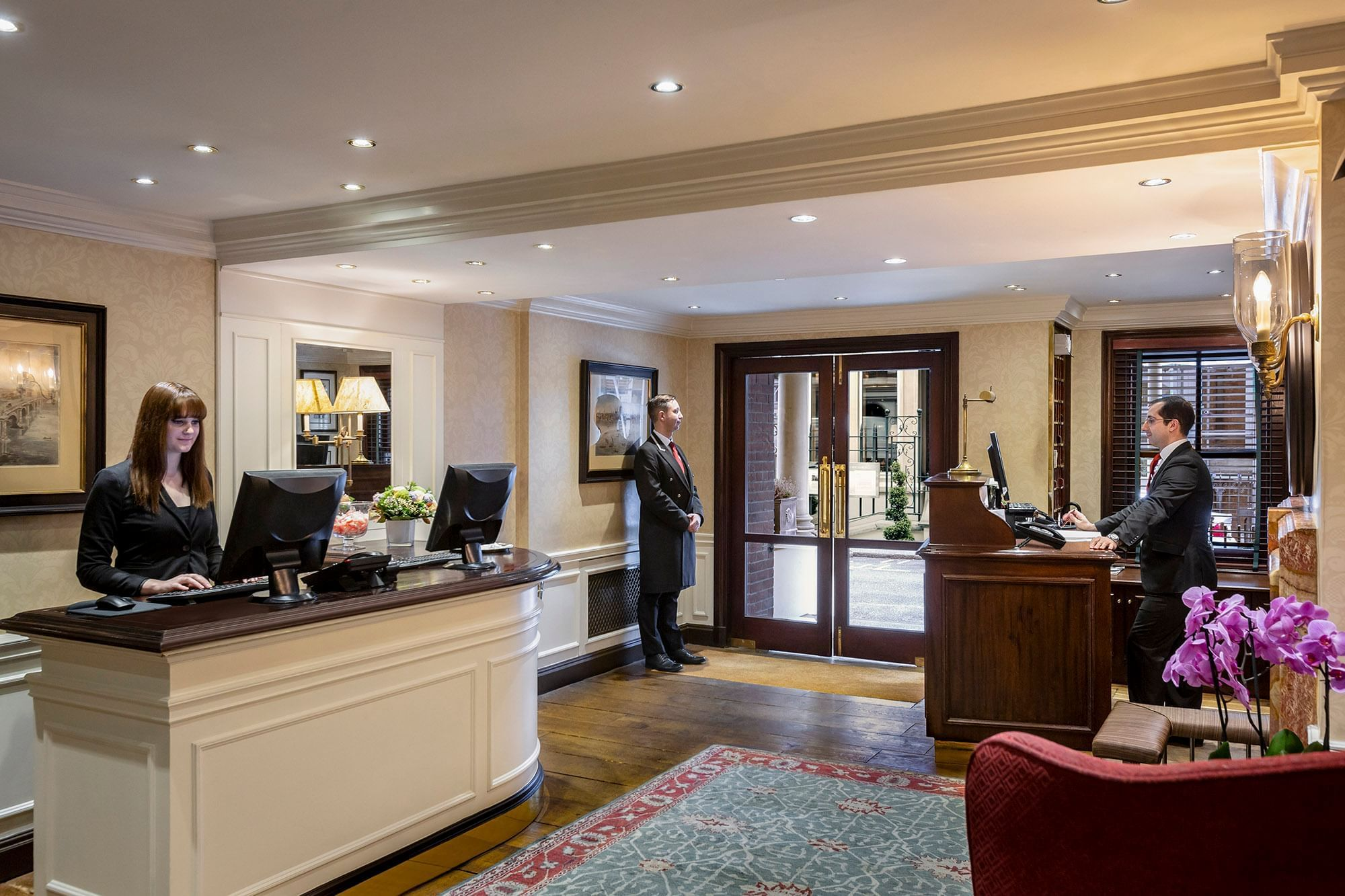 The Capital Hotel Reception and Concierge Desk