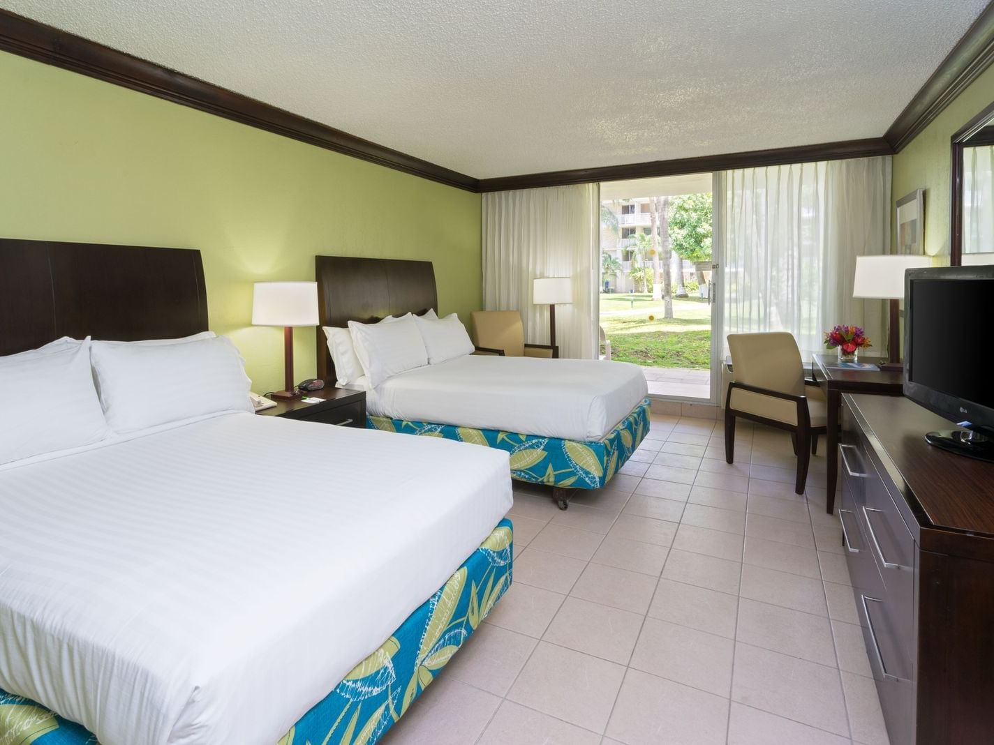 Double beds in the standard room at Holiday Inn Montego Bay