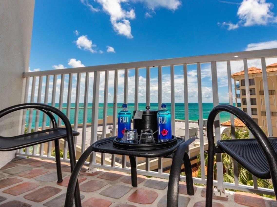 Balcony of Accessible Studio room at Shephard's Beach Resort