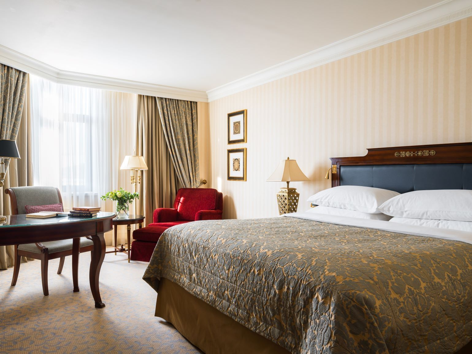 One bedroom in deluxe room - at Intercontinental Kyiv hotel