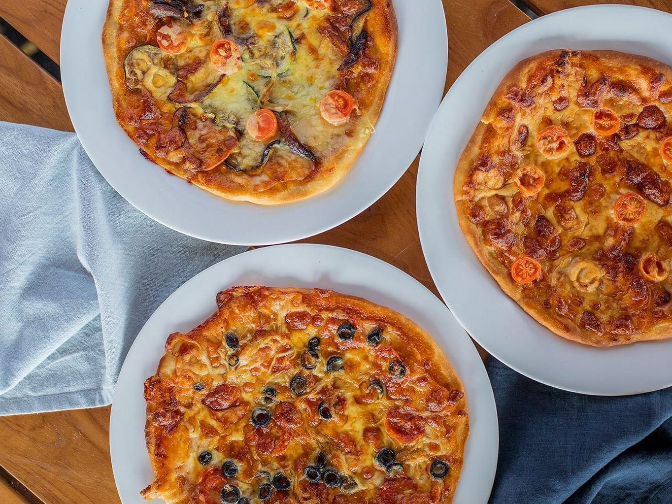 Pizza served in Inkstone Kitchen at Daydream Island Resort