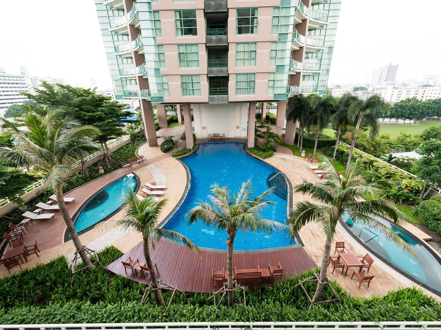 View of swimming pool at Chatrium Residence Riverside Bangkok