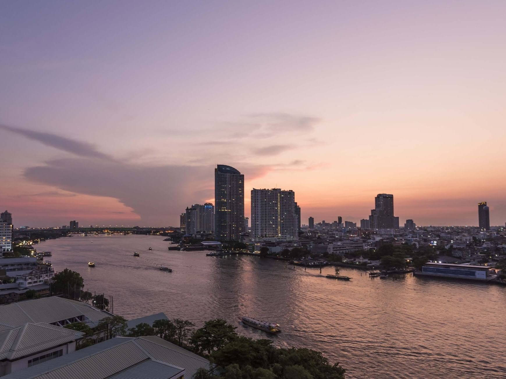 Lake view from of Chatrium Hotel Riverside Bangkok