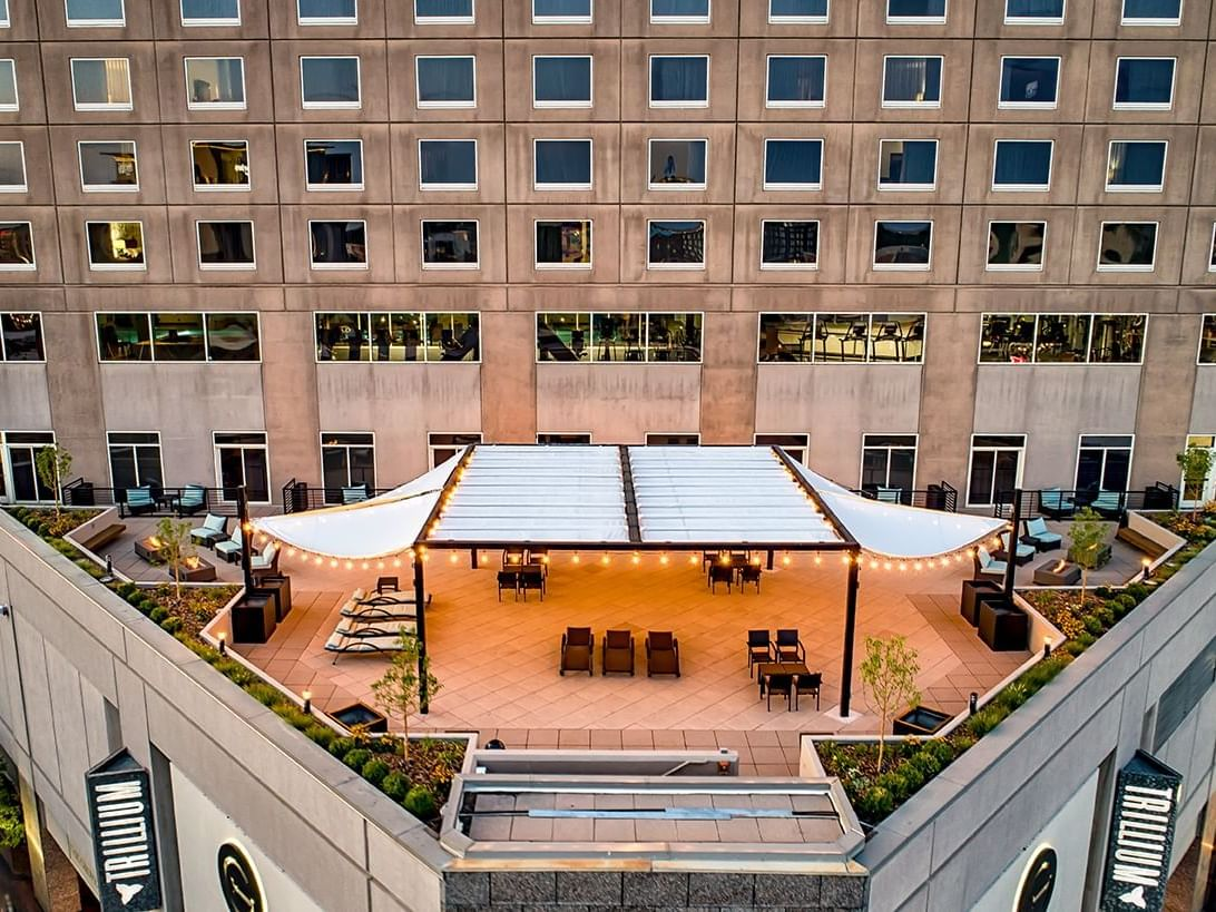 the terrace at the grove hotel in downtown boise