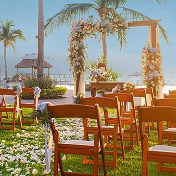 chairs and best weeding place at Sunset Plaza Beach Resort