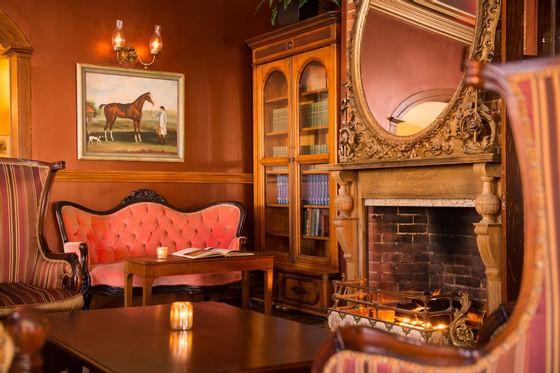 seating near fireplace