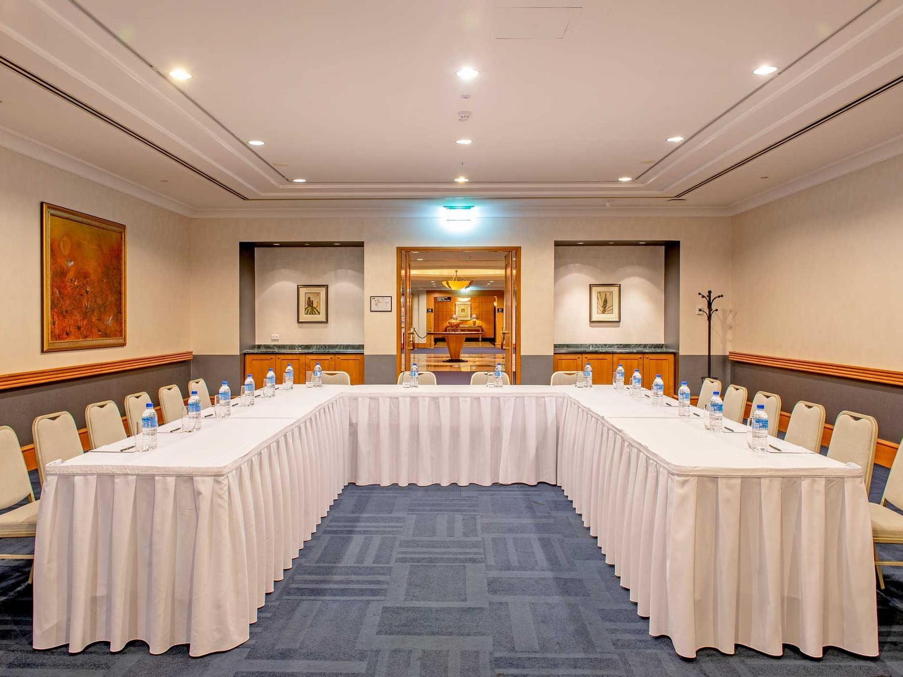 A view of the Meeting Room arranged in U-shape in Duxton Hotel
