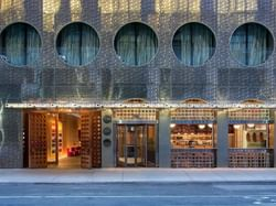 The exterior view of the entrance of Dream Downtown New York