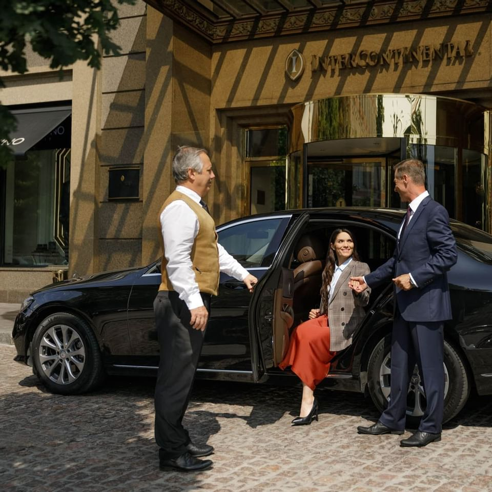 welcoming the guest in intercontinental kiev hotel