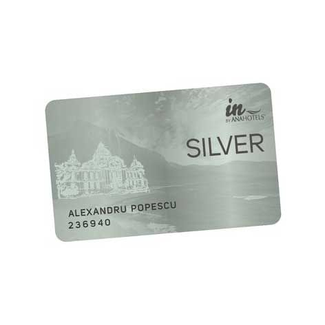 A Silver Card of Ana Hotels in Romania