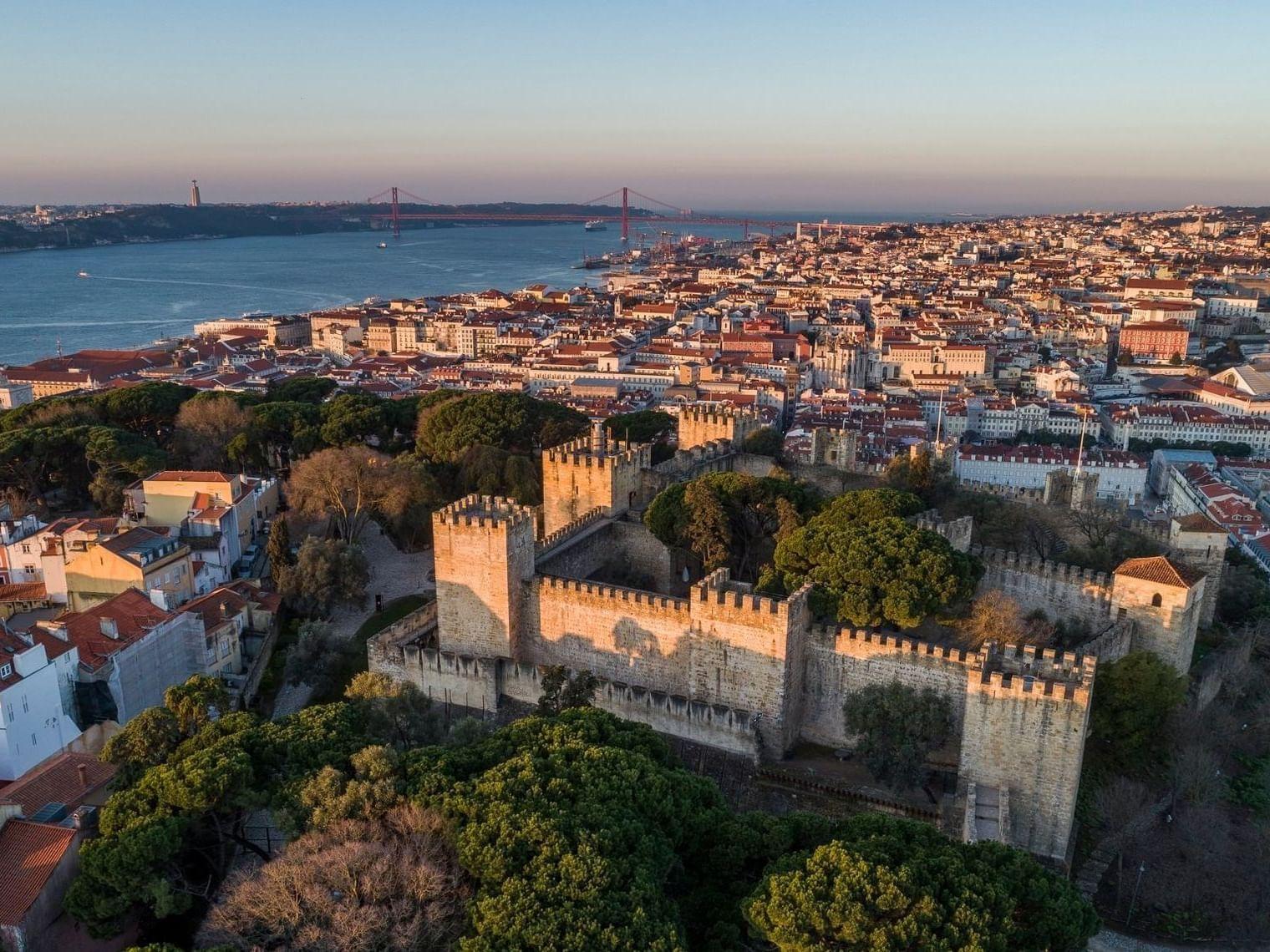 overview of Castelo de Sao Jorge
