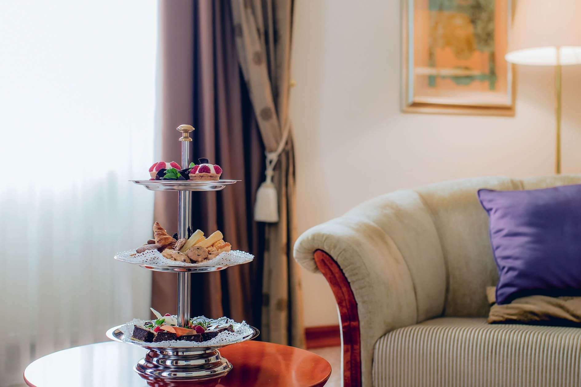 Presidential suite at Grand Hotel in Ljubljana
