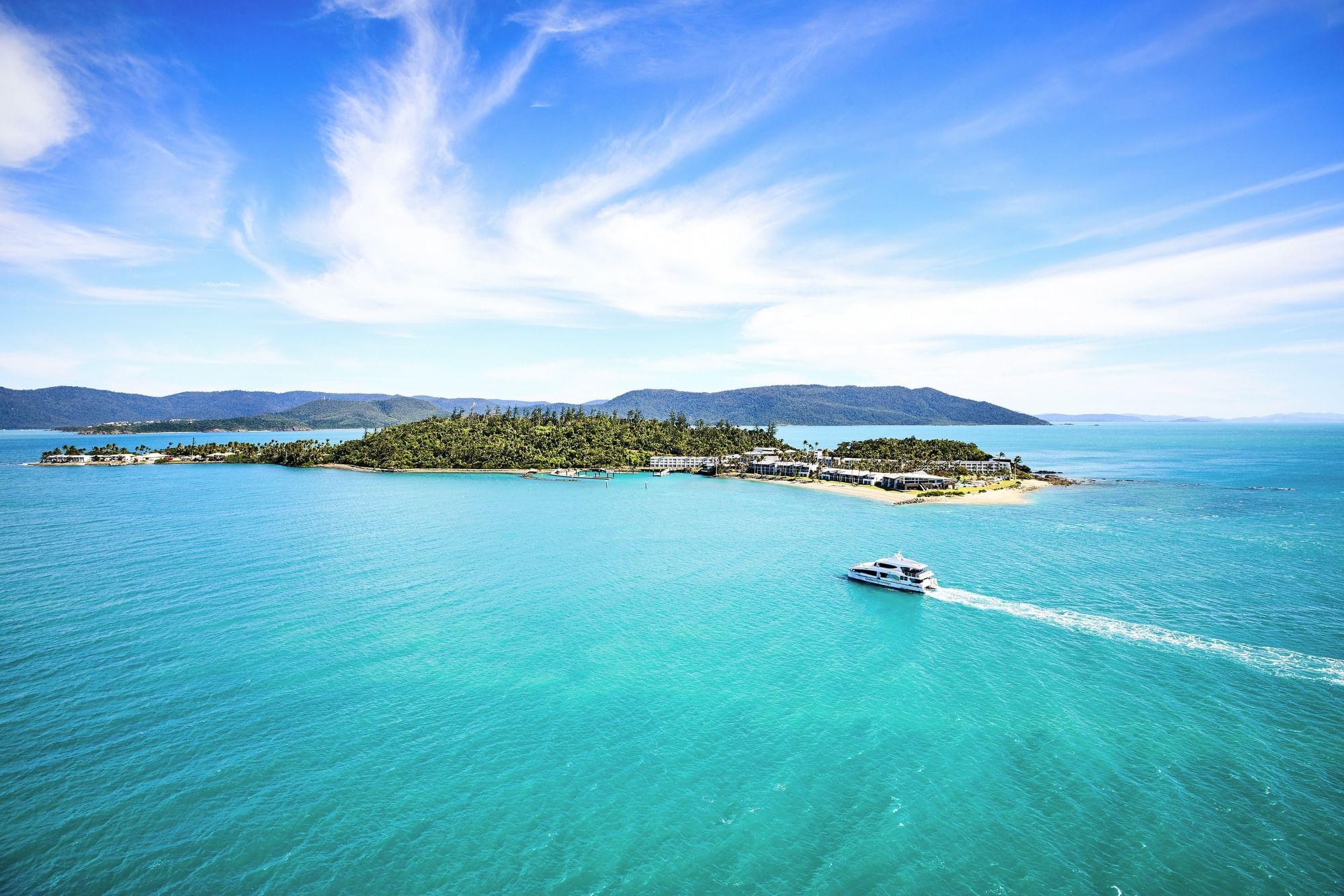 Aerial view of ocean near Daydream Island Resort