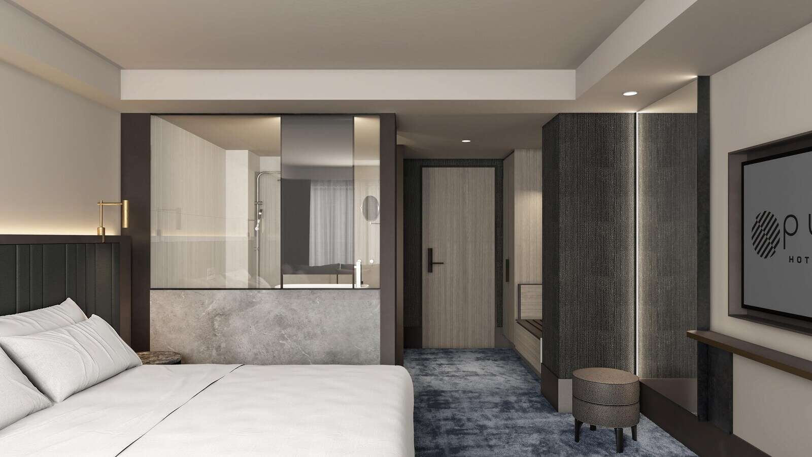 superior room with king bed at Pullman Melbourne on the park