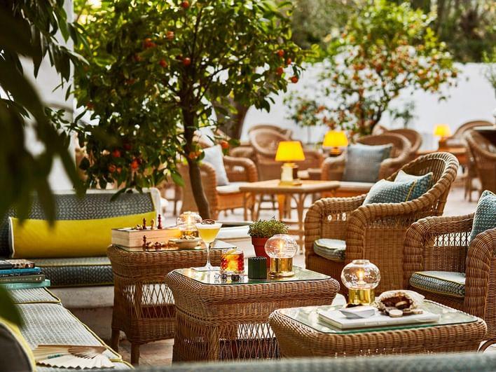 Summer bar at Marbella Club