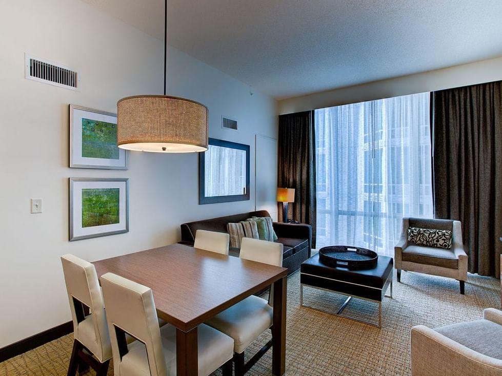 Partial ocean view two bedroom suite at Diamond Resorts Virginia Beach