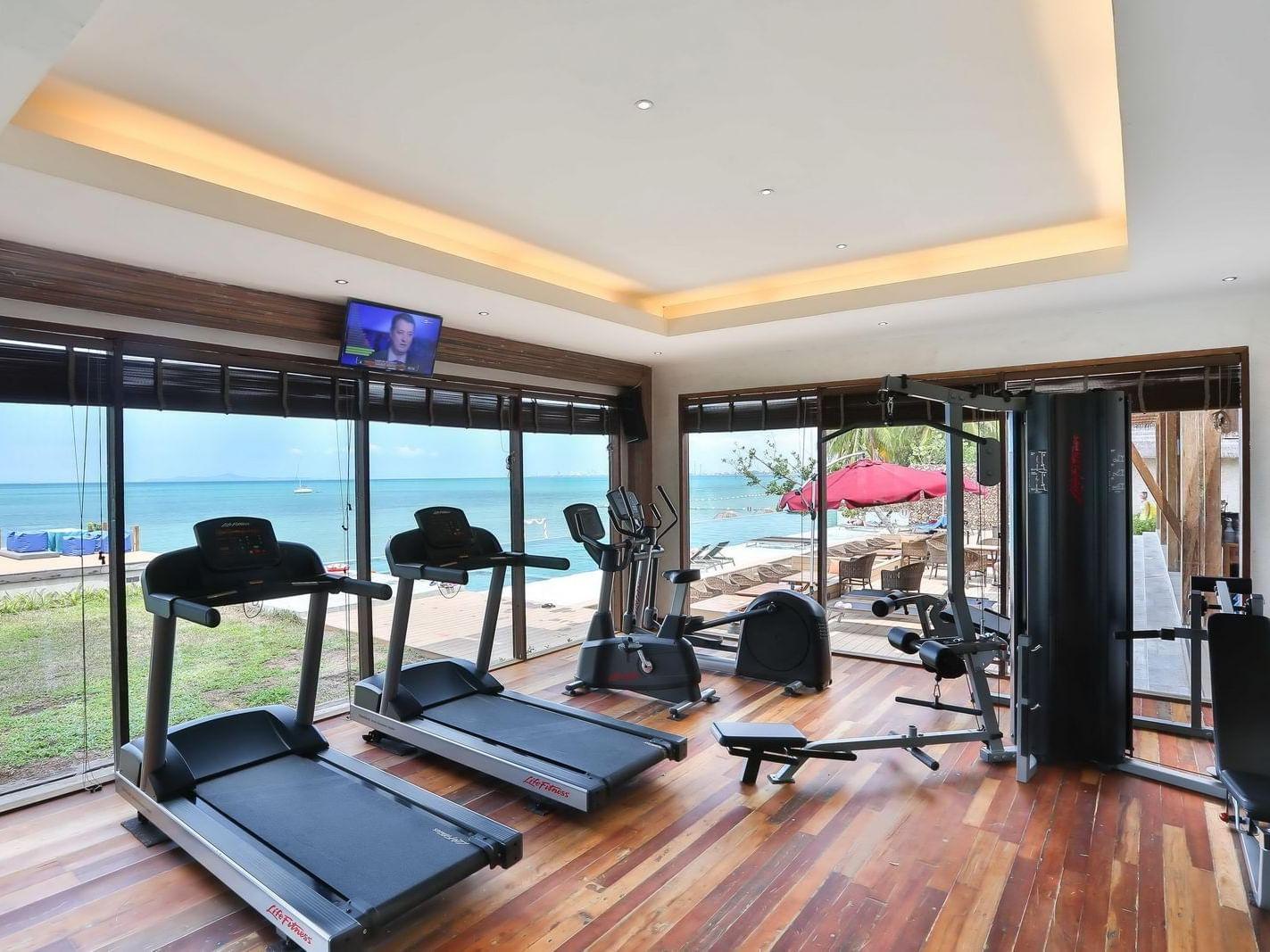 Equipments of Gym at U Hotels and Resorts