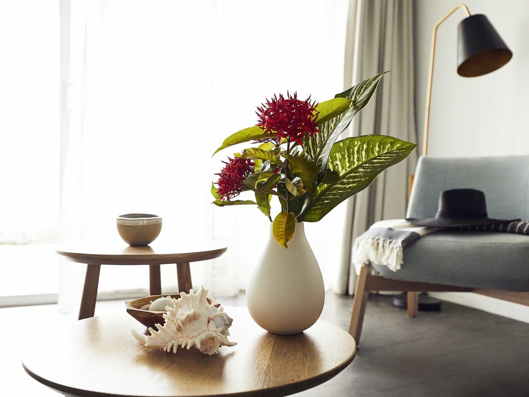 Flower vase in Resort Room at Daydream Island Resort